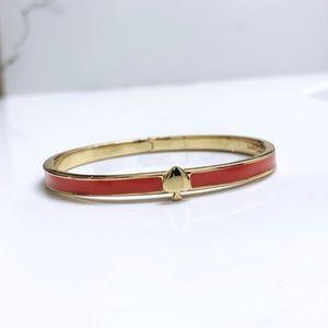 Spade Gold Hinged Cuff Bracelet